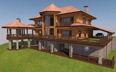 Строительство шале фахверк под ключ - проекты коттеджей домов в стиле шале фахверк цена комбинированного строительства - купить красивый шале из бруса  Lumi Polar