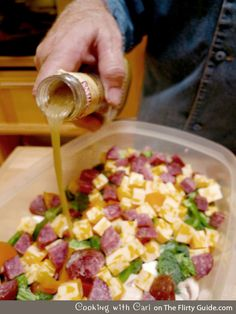 Easy, Colorful Antipasto Appetizer for a Crowd