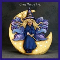 Ceramic Bisque Ready to Paint Samantha Fairy Witch electric included Biscuit, Ceramic Bisque, Fimo Clay, Book Illustration, Illustrations, Clay Creations, Diy Projects To Try, Trick Or Treat, Witch