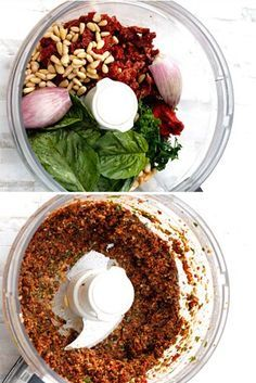 24 Delicious DIY Sauces You'll Want To Put On Everything - includes sundried tomato pesto I'm going to make a point to try at least 12 of these delicious sounding sauces/marinades! 24 Sauces without all of the preservatives and all the flavor you need Ser Pesto Recipe, Pesto Sauce, Vegetarian Recipes, Cooking Recipes, Healthy Recipes, Sundried Tomato Pesto, Sundried Tomato Recipes, Dips, Salsa Picante