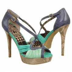 Womens Jessica Simpson Brouge Palmetto Green/Royal