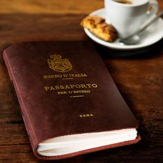 Leather Travel Journal Italia Passport by SatchelandPage on Etsy, $48.00