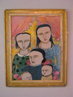 family women original acrylic paintingraw by sandymastroni on Etsy, $225.00