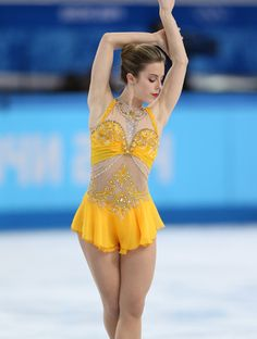 Olympian Ashley Wagner's Skating Costume: A Sea of Little Mirrors #InStyle