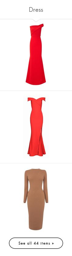 """""""Dress"""" by fashionmodelstyle ❤ liked on Polyvore featuring dresses, gowns, gown, red, wrap dress, red strapless gown, red ball gown, high-low dresses, red dress and white ball gowns"""