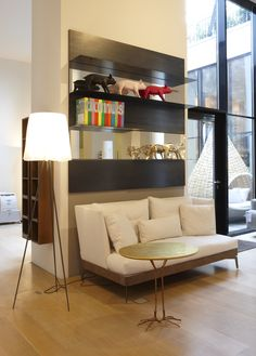 Nice display of the Load-It wall shelving by Porro