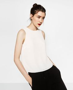 ZARA - WOMAN - TOP WITH CROSSOVER BACK