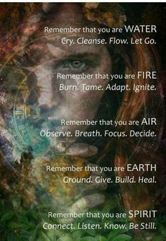 The Four Elements off a way for you to explore your connection mto both your inner and outer world. Each element plays a crucial role in the ordinary material world around you and in the interior world of your soul. Janblencowe.com