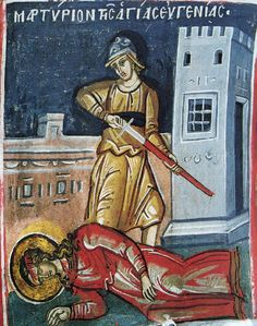 St. Eugenia the Righteous Virgin Martyr, at her martyrdom. +