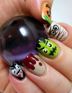 40 Halloween Nail Art Designs and Ideas || Halloween Nail Art Designs || Fenzyme.com
