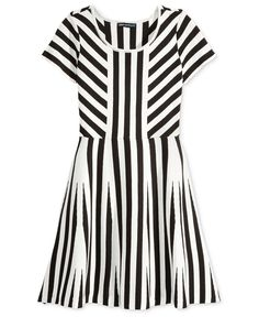 Sequin Hearts Knit Striped Skater Dress, Big Girls (7-16) Junior Outfits, Girl Outfits, Fashion Outfits, Skater Dress, Dress Skirt, Big Girl Clothes, Heart Dress, Stripe Skirt, White Skirts