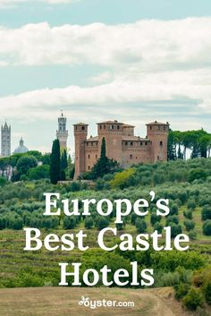 Castles may have been reserved for the noble and elite centuries ago, but now many of the striking structures have transformed into luxury hotels for romantic rendezvous or memorable family getaways. The fortified buildings -- with buttresses, stone arches, and ornate detail -- no longer protect against attacks, instead offering travelers a historic and undeniably unique place to stay. From Ireland to Tuscany, we've rounded up the best castle hotels in Europe when you want to sleep in a bed…