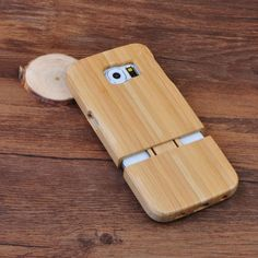 100% Natural Green Real Wood Wooden Bamboo Case Cover Shell Skin For Samsung S6