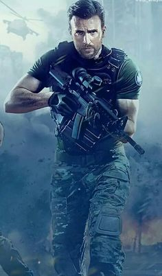 Chris Evans in Call of Duty. That's one pretty hot picture