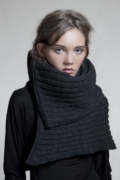 Camilla Wellton chunky zip cowl; I want this but have no idea where I would wear it in Phoenix.  Need to go to NY in winter for it, I guess.