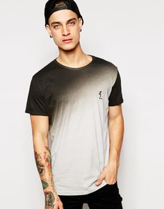 Image 1 ofReligion T-Shirt with Dip Dye Print
