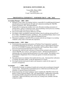 accounting manager resume accounting manager in chicago il resume richard montgomery