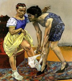Paula Rego - Snow White and her Step Mother 1995 Paula Rego Art, Mario Cesariny, Nadir Afonso, Fine Art, People Art, Art Plastique, Figure Painting, Contemporary Artists, Modern Art