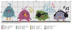 Tiny Cross Stitch, Xmas Cross Stitch, Cross Stitch Animals, Cross Stitch Charts, Cross Stitching, Cross Stitch Patterns, Stitch Games, Everything Cross Stitch, Christen