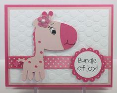 cricut baby cards   Simply Pam: Episode 39: Baby Giraffe Card