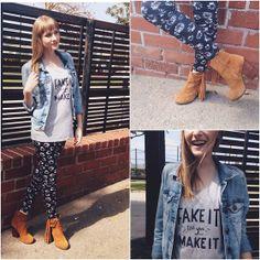 Dayeanne  Hutton - Mavi Jacket, Nala Los Angeles Shirt, H&M Leggings, Jeffrey Campbell Booties - Fringe Game