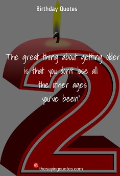 45 Happy Birthday Wishes, Quotes & Messages 2019 - The Saying Quotes Cute Happy Birthday Quotes, Famous Author Quotes, Wise Quotes, Getting Old, Birthdays, Messages, Sayings, Forget, Anniversaries