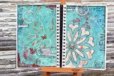 tangles in art journal | Found on artjournalcafe.blogspot.ca