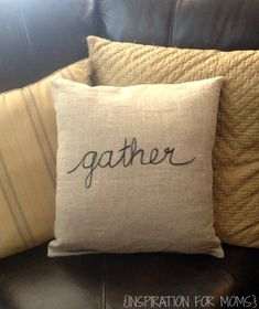 My Thanksgiving Sentiment Inspired Pillow tutorial will show you how to make this easy decorative accessory in a matter of minutes. Perfect for fall decor.