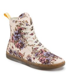 Look what I found on #zulily! Beige Floral Hackney Boot by Dr. Martens #zulilyfinds