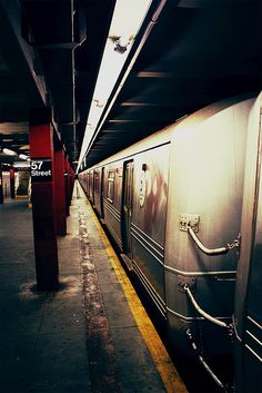#NYC Subway ♥♥  #newyork #NY New York || Follow http://www.pinterest.com/lcottereau/new-york-i