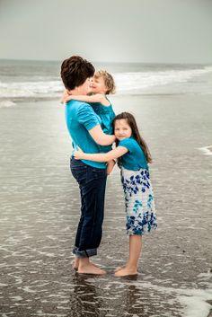 Mom and kids on the beach. Hilton Head Island, SC. Best Family Photographer, Bluffton Today, 2012 & 2013.