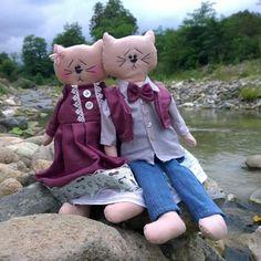 #kumaskedi #fabriccats #kedi #handmade #elyapımı #rengarenktuhafiye #handmadedoll