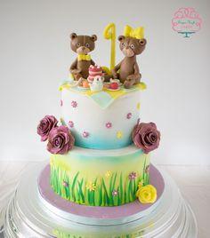 Teddy Bear Picnic First Birthday Cake  on Cake Central