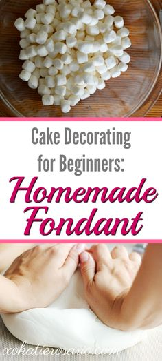 Are you a homebaker that wonders how the top bakers make the perfect covered cakes? Here's how to easily make great tasting homemade fondant! Use this recipe to make your own beautiful cakes, cupcake toppers, fondant figures and covering cookies. Easy to use recipe for beginning cake decorators.