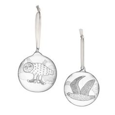Based on the classic birds designed by Toikka for Iittala, this glass ornament measures diameter and pictures 3 different birds. Image shows one ornament with two of the three birds. Bird Ornaments, Glass Christmas Ornaments, Christmas Glasses, Different Birds, Glass Birds, Bird Design, Vintage Pottery, Decorative Objects, Tree Decorations