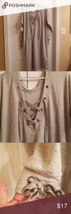 c69bc8b09 Shop Women's City Streets Gray size Various Long Sleeve at a discounted  price at Poshmark. Ties at the neck, elastic at the waist.