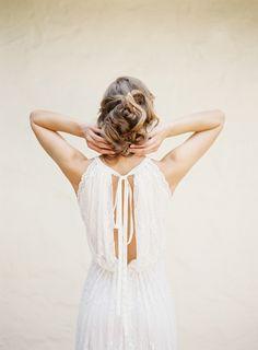 Lace + updo wedding prettiness