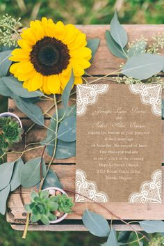 printed lace and burlap chic rustic wedding invitations
