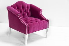 Mademoiselle Chair in Pink Velvet by ModShop