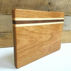 Barmate Cutting Board 8x10 Cherry Walnut and Maple