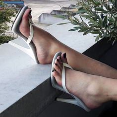 White High Heels, Sexy High Heels, High Heels Stilettos, Strappy Heels, Stiletto Heels, Sexy Legs And Heels, Hot Heels, Pantyhose Heels, Gorgeous Feet
