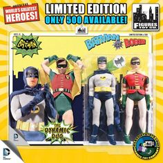 Batman and Robin '66 Mego Dolls (San Diego Comic Con Exclusive)
