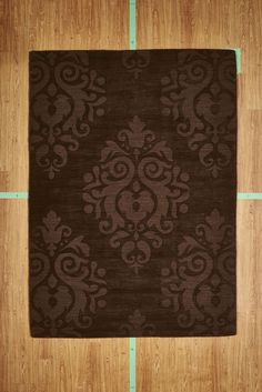 """5' 3"""" x 7' 7"""" Brown Transitional Hand Tufted Wool Area Rug NEW SALE"""