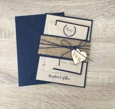 rustic wedding invitation burlap wedding by RusticInvitesAndmore