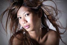 Vietnamese fashion model in the studio
