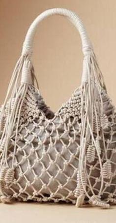 Crochet Stitches Free, Crochet Market Bag, Rope Braid, Net Bag, Dolce E Gabbana, Macrame Bag, Macrame Projects, Macrame Patterns, Summer Bags