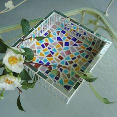 Tray, Mirror Tray, Mosaic Tray by Live In Mosaics.