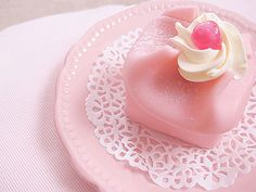 cute little tea cake! sponge cake with cream and jam filling covered with marzipan. i don't like marzipan usually but it's good rolled and covering cake(apparently)! Japanese Candy, Japanese Sweets, Mini Cakes, Cupcake Cakes, Cupcakes, Marzipan, Pink Sweets, Pink Foods, Cute Food