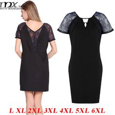 MNX New Arrival 2015 Summer Dress Plus Size 6XL Short Sleeves Lace Hollow Mini Black Casual Ladies Work Dresses Slim Clothing - http://www.aliexpress.com/item/MNX-New-Arrival-2015-Summer-Dress-Plus-Size-6XL-Short-Sleeves-Lace-Hollow-Mini-Black-Casual-Ladies-Work-Dresses-Slim-Clothing/32360185848.html