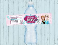 Frozen Water Bottle Label by PoshPaisleyBoutique on Etsy, $4.99